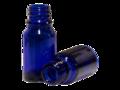 Flesje Kobalt blauw Glas DIN18 30ml